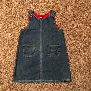 Tommy Hilfiger girls jean jumper with red lining